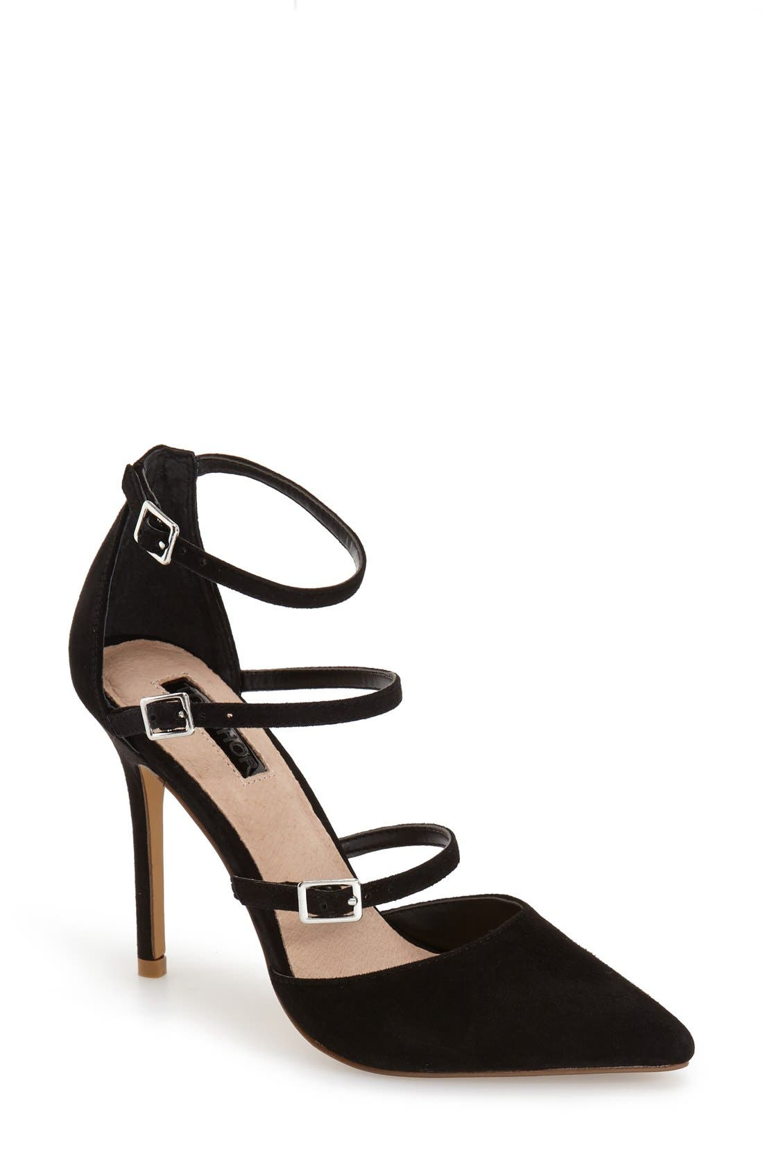 Alternate Image 1 Selected - Topshop 'Giselle' Buckle Sandal (Women)
