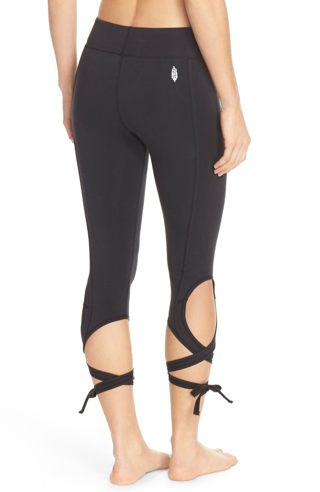 Alternate Image 2  - Free People Turnout Tie Capris