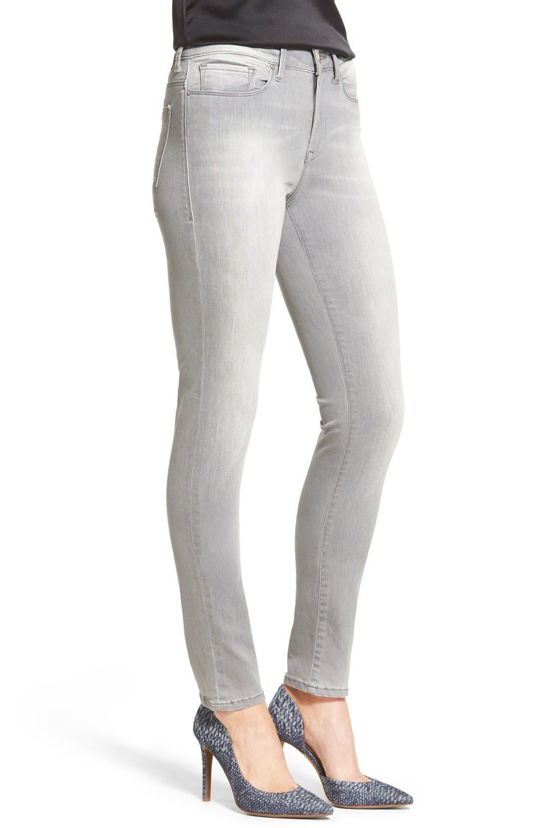 'Alissa' Stretch Skinny Jeans,                             Alternate thumbnail 3, color,                             Alissa Light Grey Tribeca
