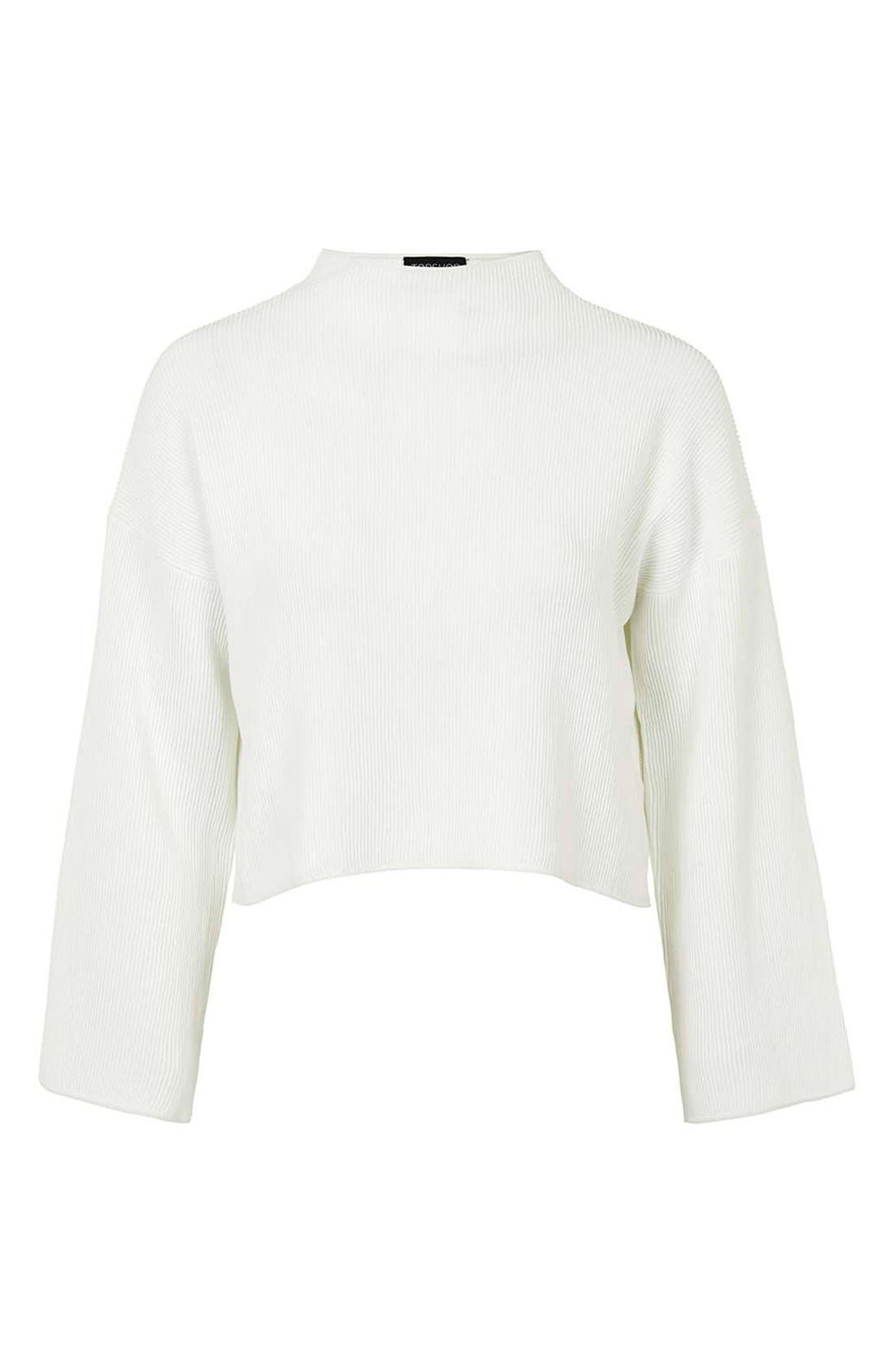 Alternate Image 6  - Topshop Funnel Neck Ribbed Crop Top