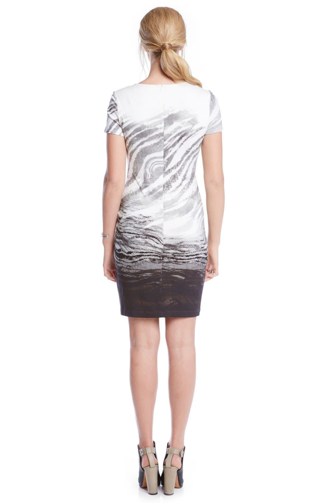 Alternate Image 3  - Karen Kane Short Sleeve Ombré Graphic Sheath Dress