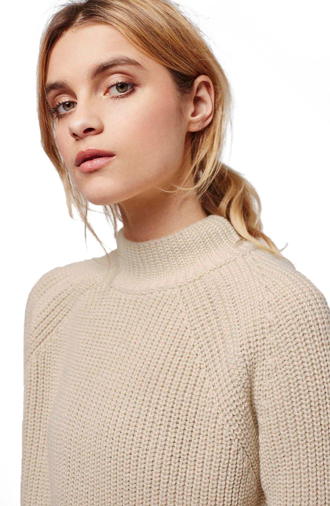 Alternate Image 5  - Topshop Mock Neck Raglan Sweater (Petite)