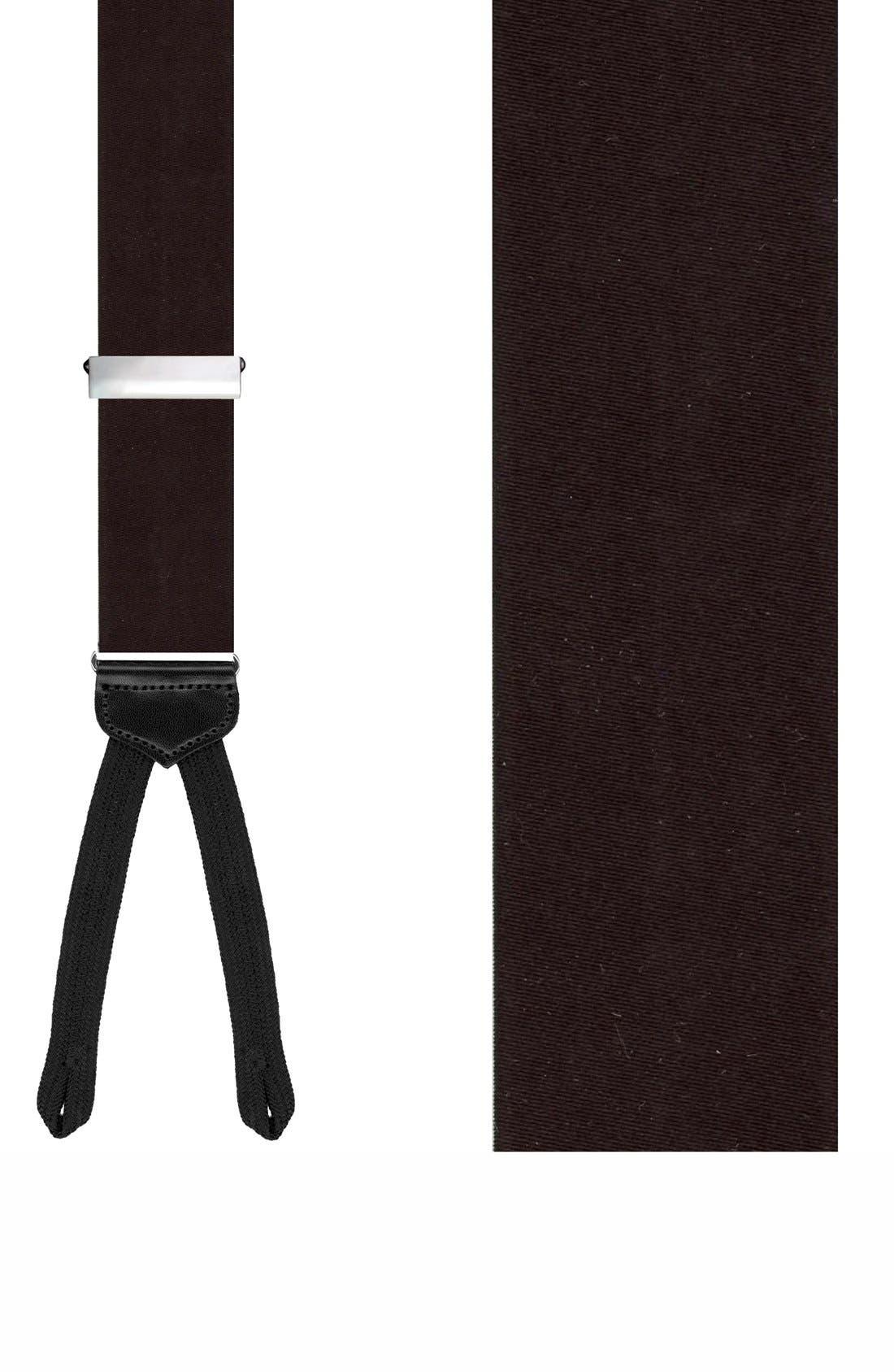 'Kington II' Silk Suspenders,                         Main,                         color, Black