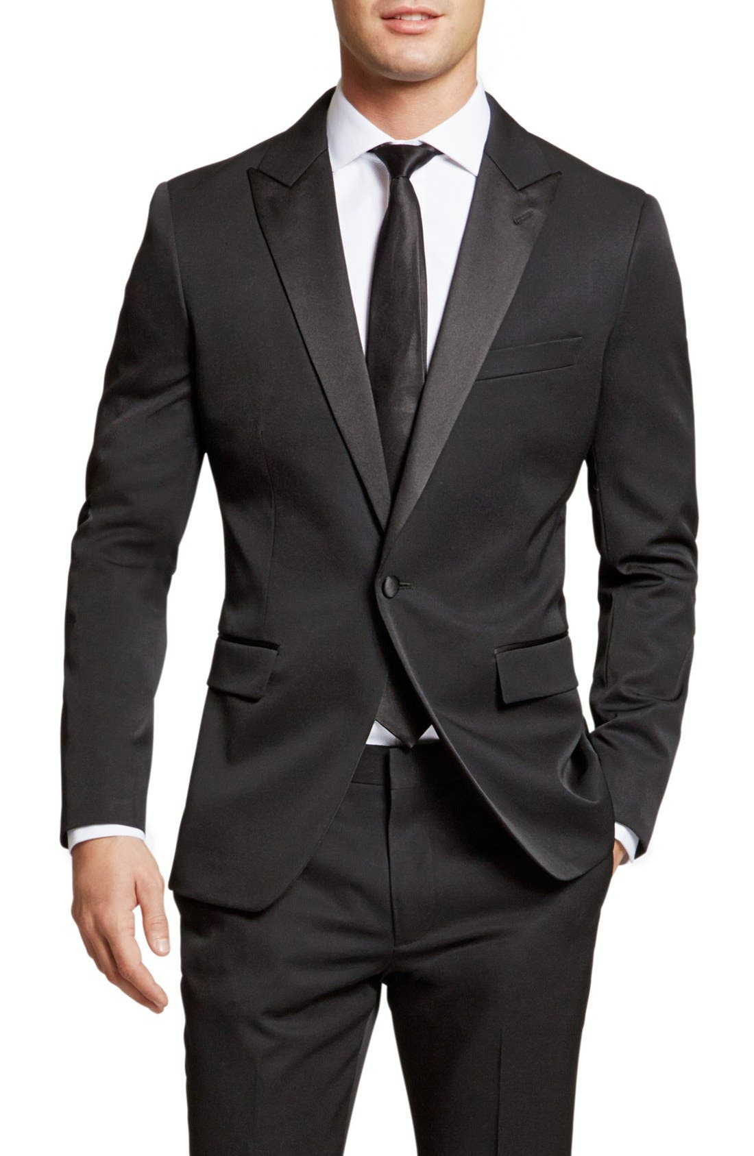 Alternate Image 3  - Bonobos Trim Fit Wool Dinner Jacket