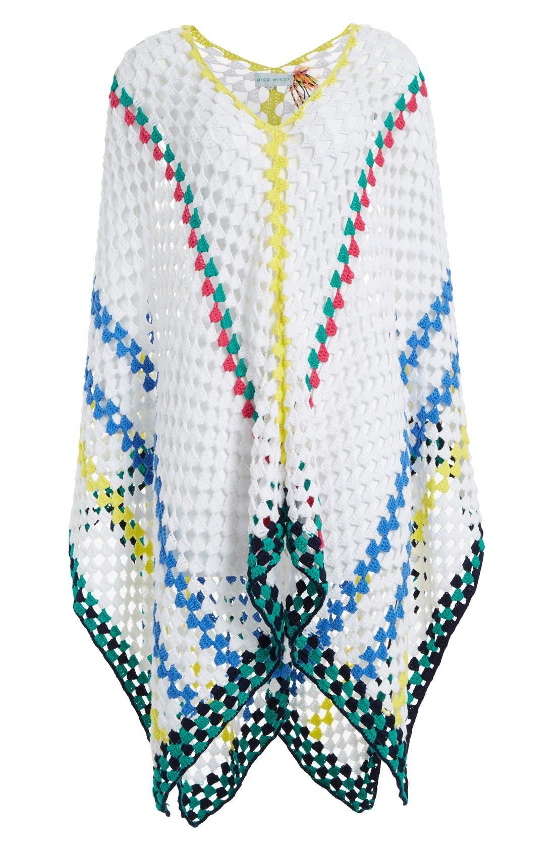 Alternate Image 4  - Mira Mikati Stripe Crochet Poncho