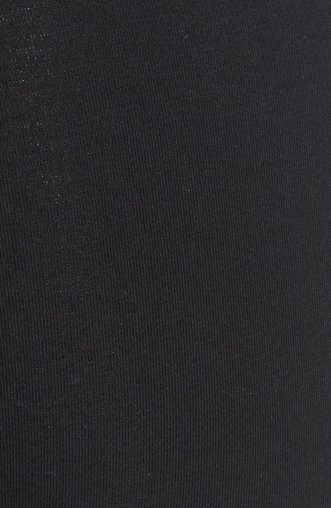 Control Top High Waist Leggings,                             Alternate thumbnail 5, color,                             Black
