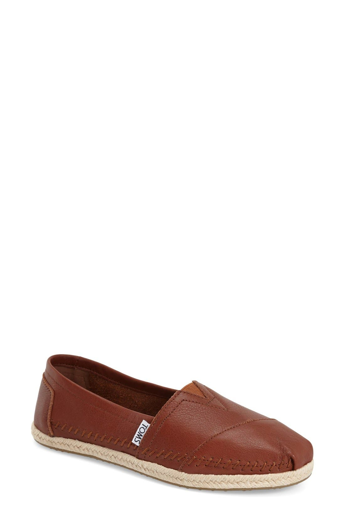 TOMS Classic - Leather Espadrille Slip-On