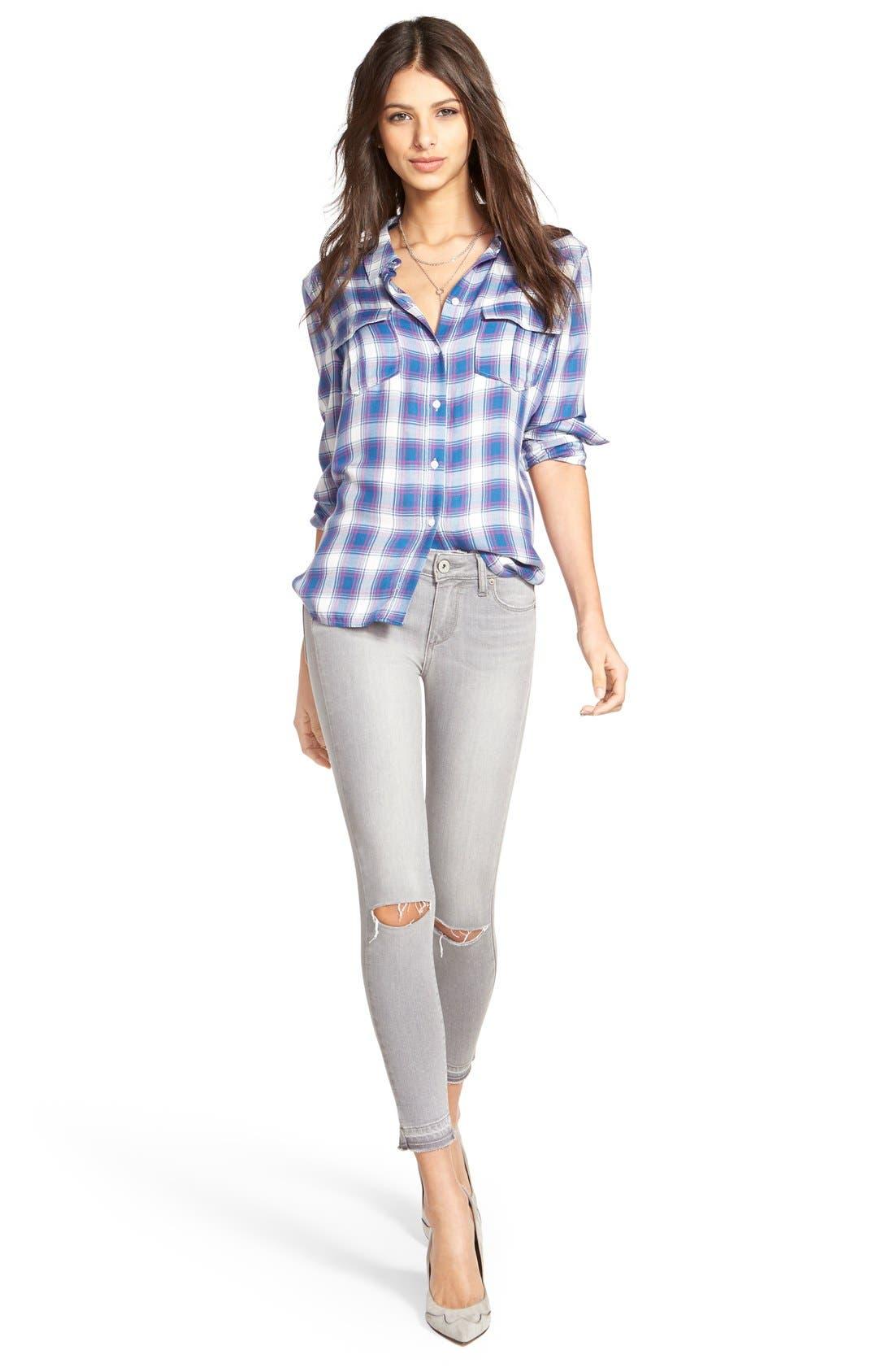 Alternate Image 2  - Paige Denim 'Verdugo' Ankle Skinny Jeans (Dove Grey)