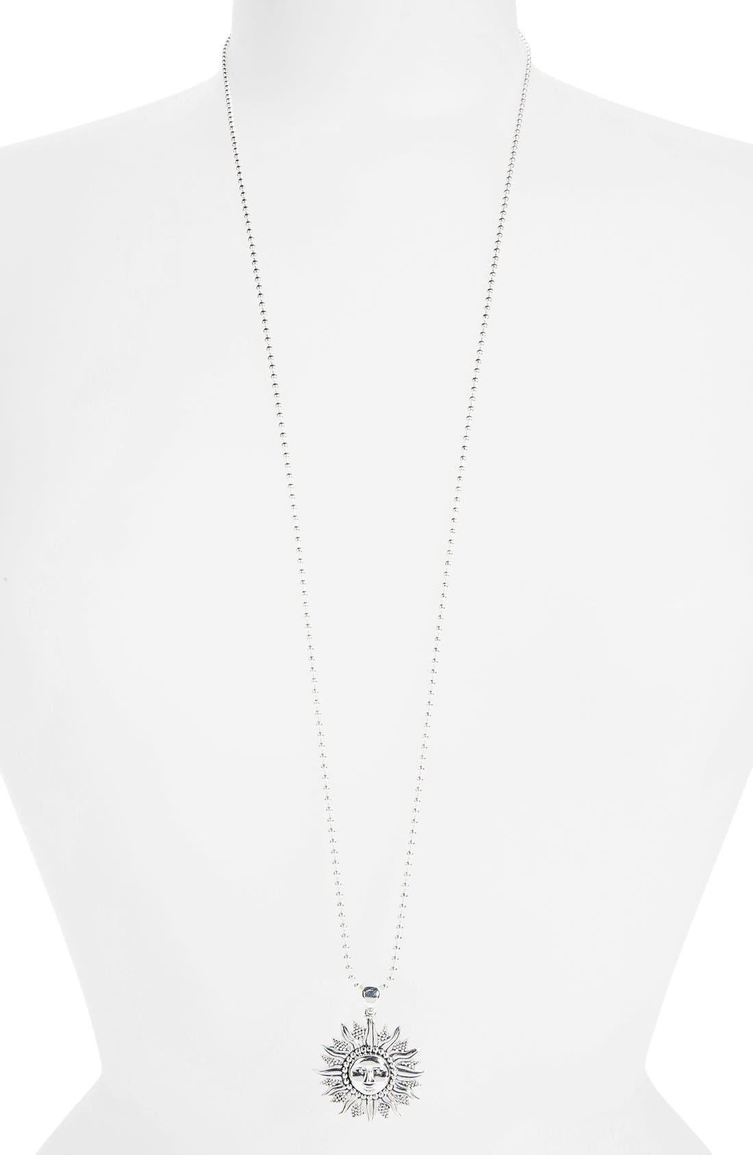 'Rare Celestial' Multistrand Pendant Necklace,                             Alternate thumbnail 2, color,                             Silver/ Sun