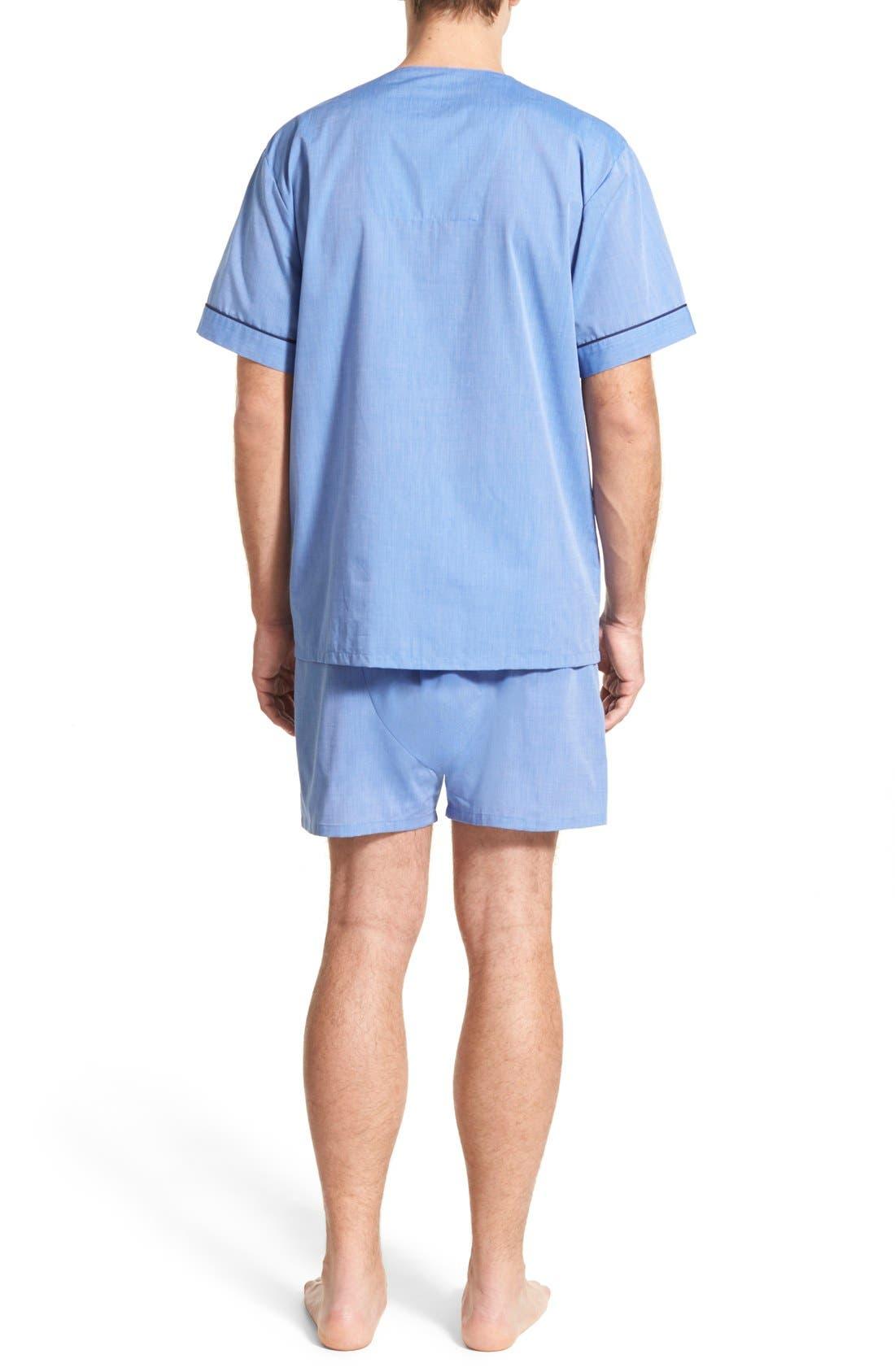 Cotton Blend Pajamas,                             Alternate thumbnail 2, color,                             Blue