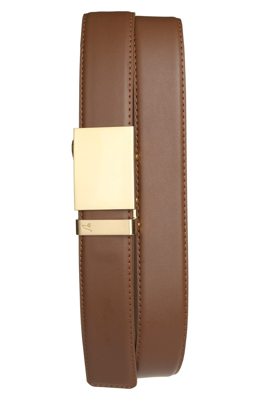 MISSION BELT Gold Leather Belt