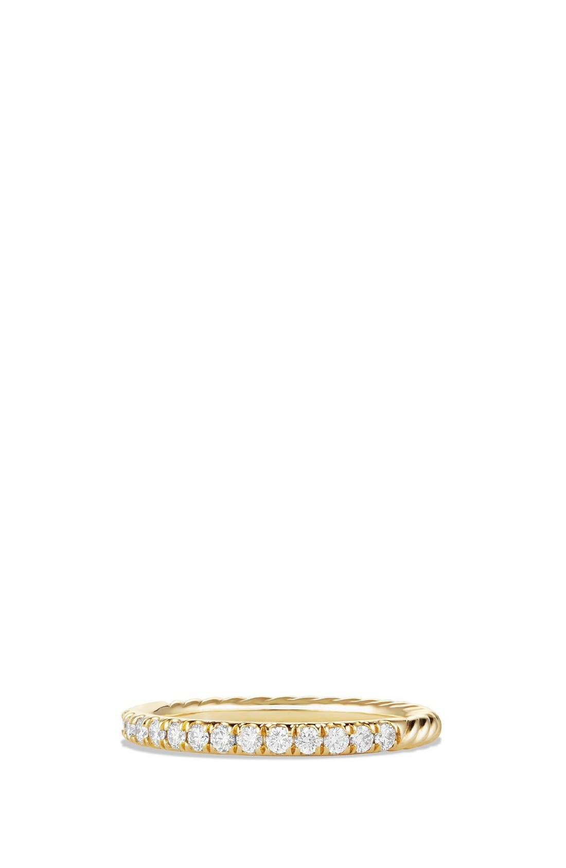 David Yurman 'Cable' Ring with Diamonds in 18K Gold