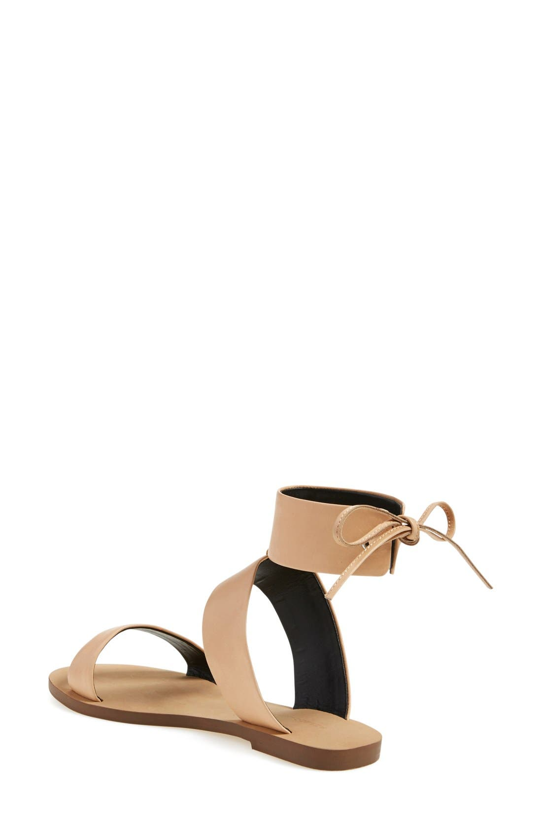 'Emma' Ankle Cuff Sandal,                             Alternate thumbnail 2, color,                             Nude Vachetta