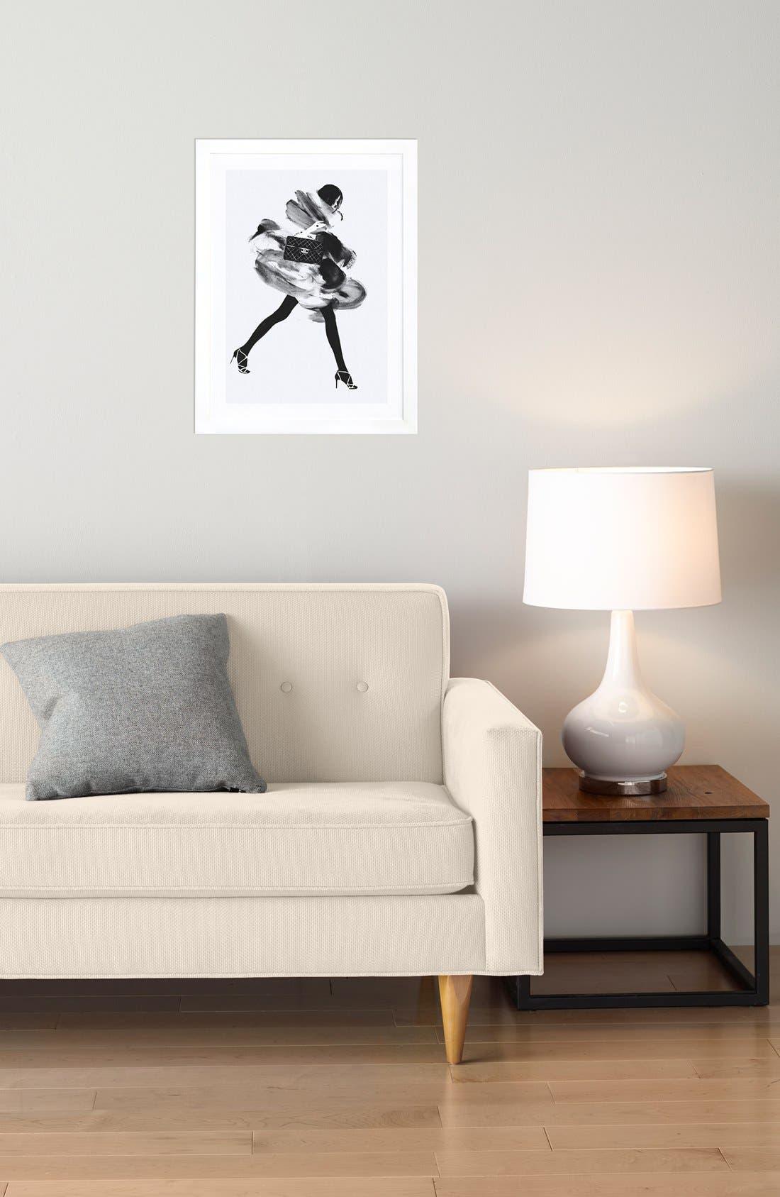 Alternate Image 3  - iCanvas 'Running Late' Framed Fine Art Print