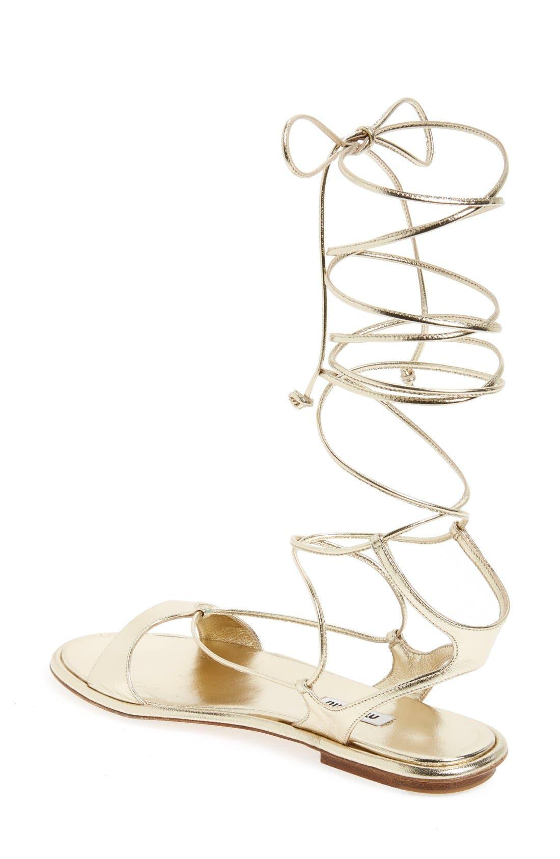 Alternate Image 2  - Miu Miu Gladiator Sandal (Women)