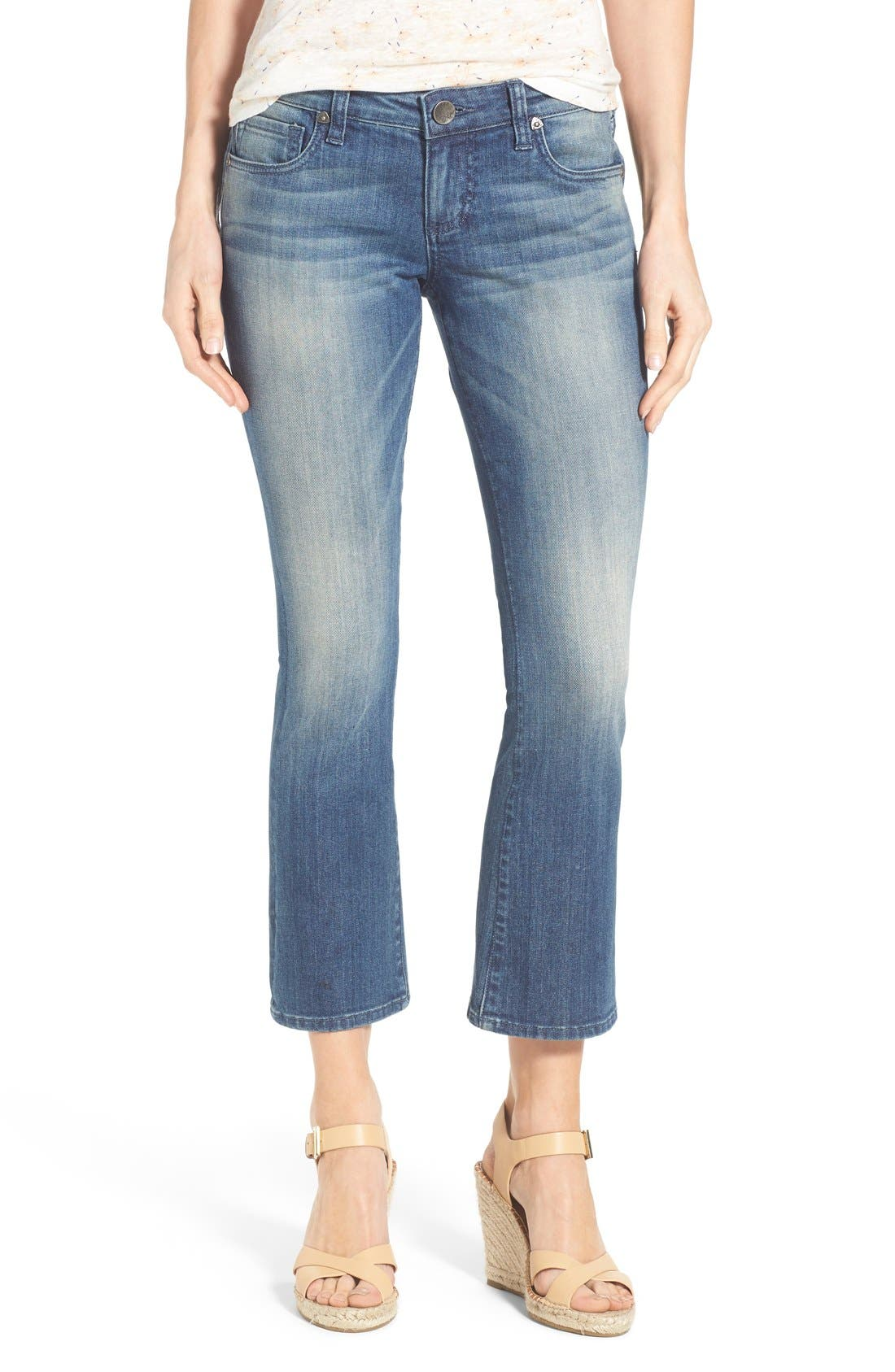 Alternate Image 1 Selected - KUT from the Kloth 'Reese' Crop Flare Leg Jeans (Primo)
