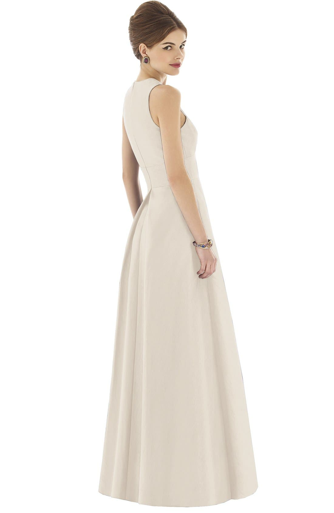 Alternate Image 2  - Alfred Sung Dupioni A-Line Gown