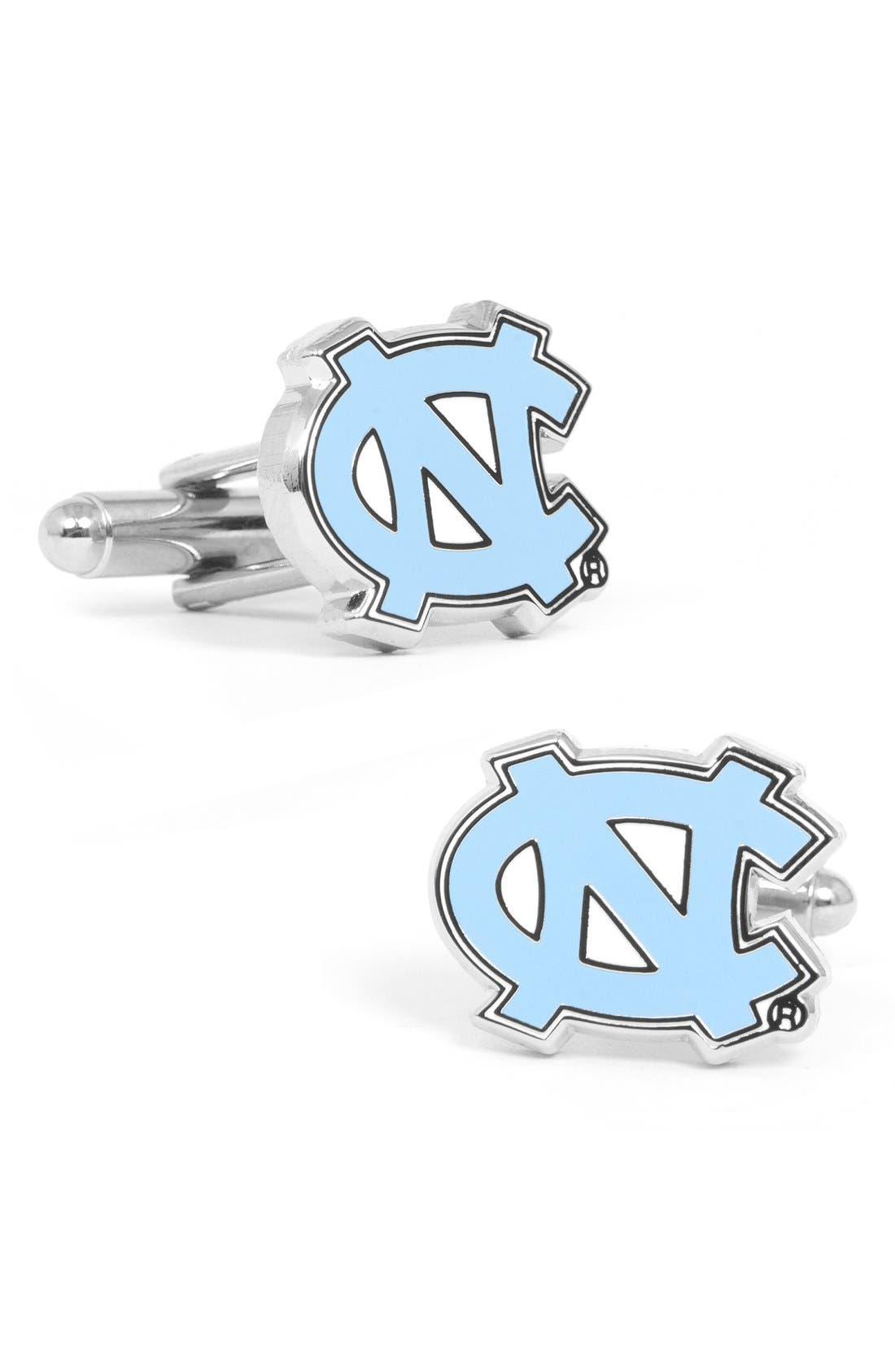 'University of North Carolina Tar Heels' Cuff Links,                         Main,                         color, Blue