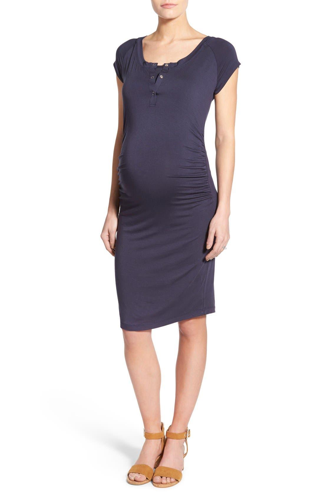 LAB40 'Toni' Maternity/Nursing Midi Dress