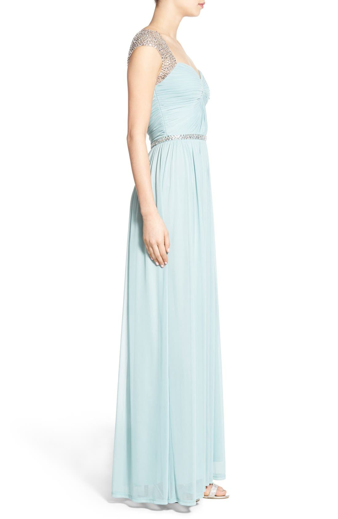 Alternate Image 3  - Adrianna Papell Embellished Ruched Jersey Gown
