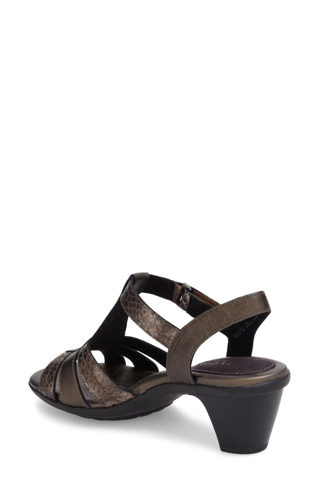 'Mary' T-Strap Sandal,                             Alternate thumbnail 2, color,                             Grey Leather