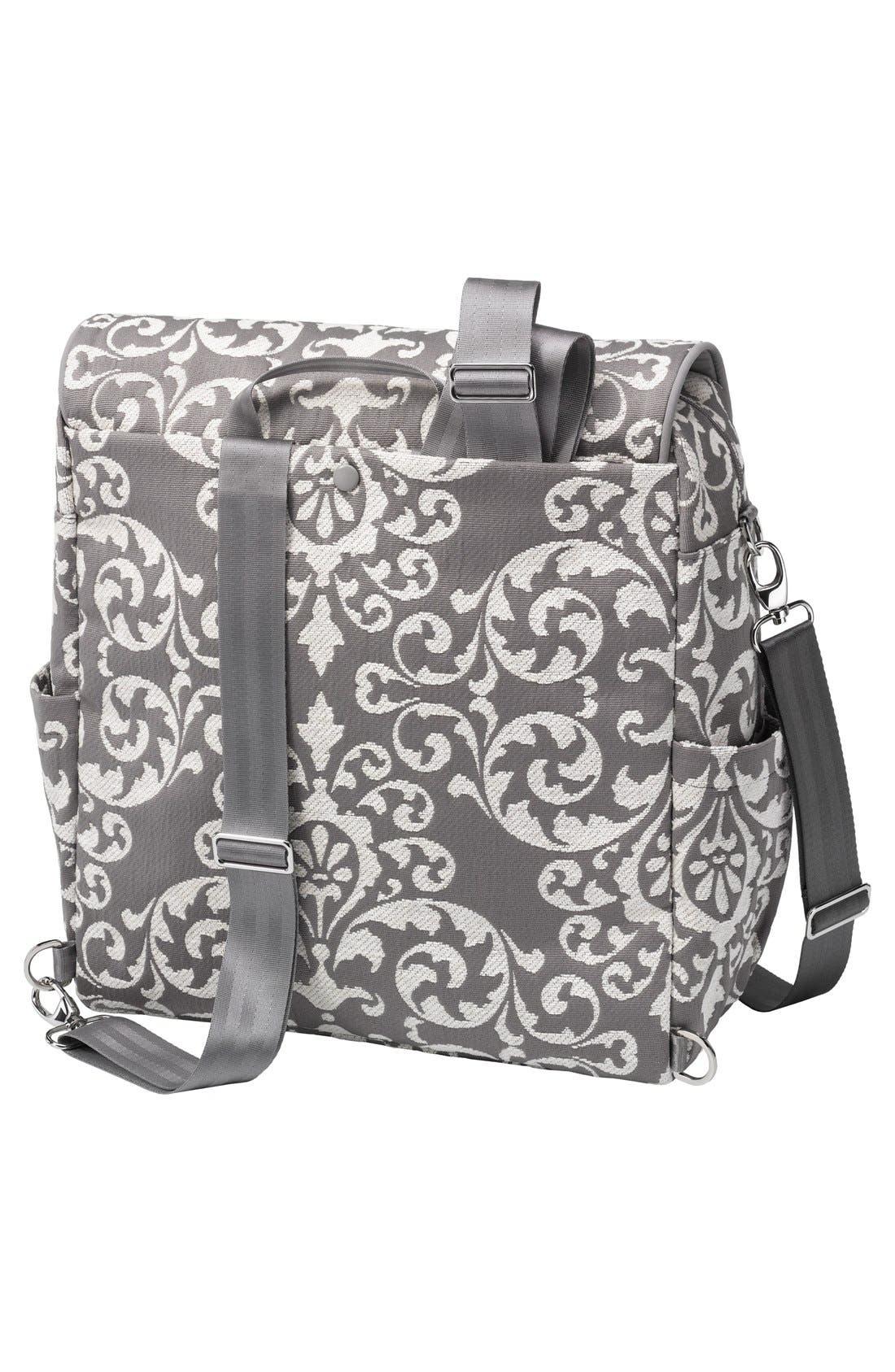 Alternate Image 2  - Petunia Pickle Bottom 'Boxy' Chenille Convertible Diaper Backpack