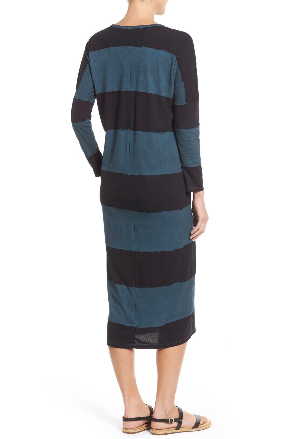 Alternate Image 2  - Lucky Brand Dyed Stripe Cotton Knit Midi Dress