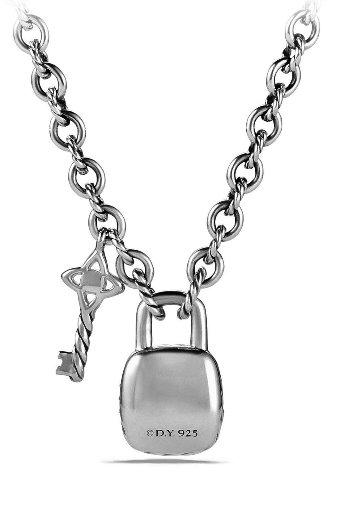 Alternate Image 3  - David Yurman 'Cable Collectibles®' Lock and Key Charm Necklace with Diamonds