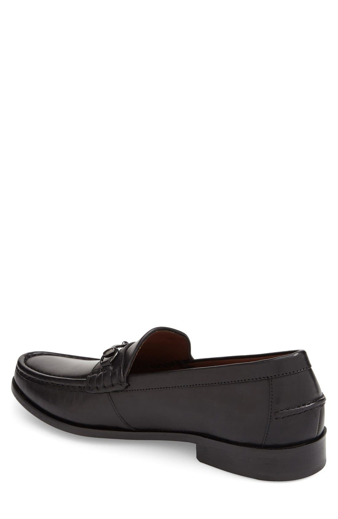 Pinch Gotham Bit Loafer,                             Alternate thumbnail 2, color,                             Black Leather