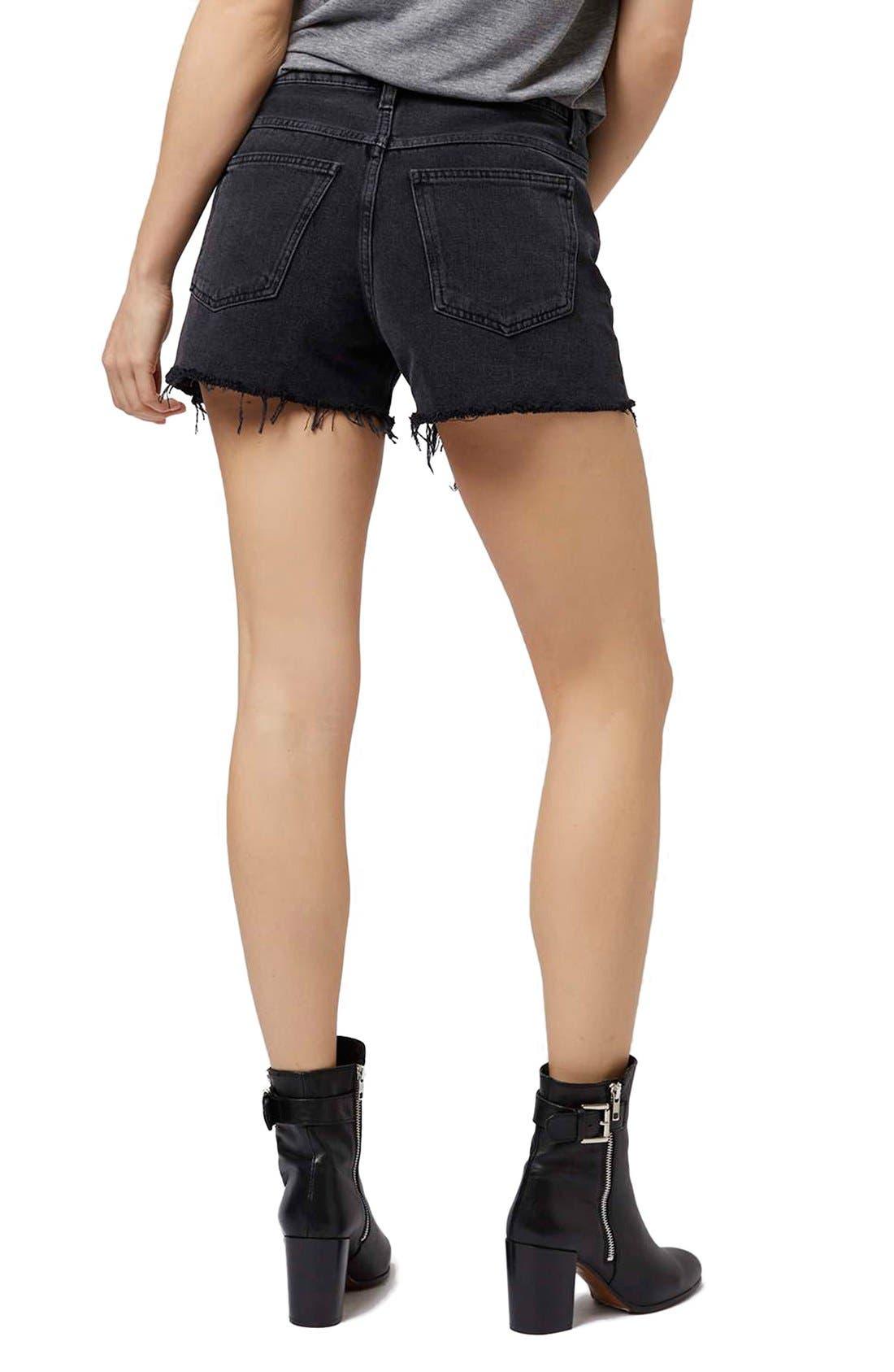 Alternate Image 3  - Topshop 'Ashley' Black Denim Cutoff Shorts