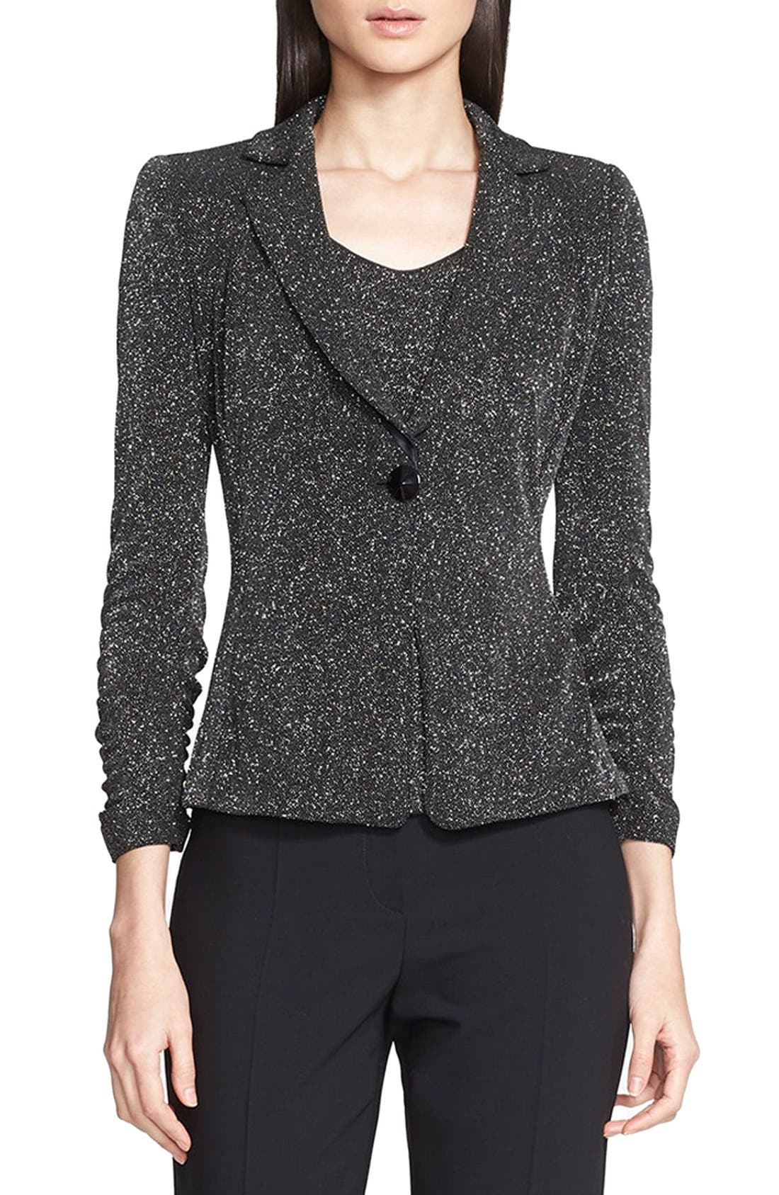 Alternate Image 1 Selected - Armani Collezioni Glitter Jersey Jacket