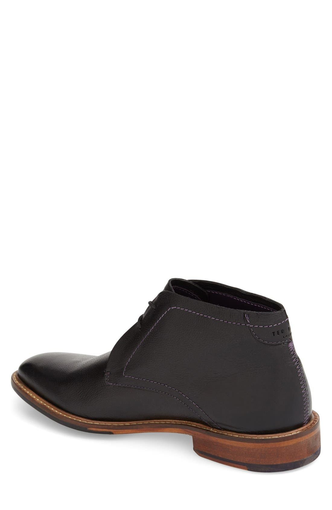 'Torsdi 4' Chukka Boot,                             Alternate thumbnail 2, color,                             Black Leather