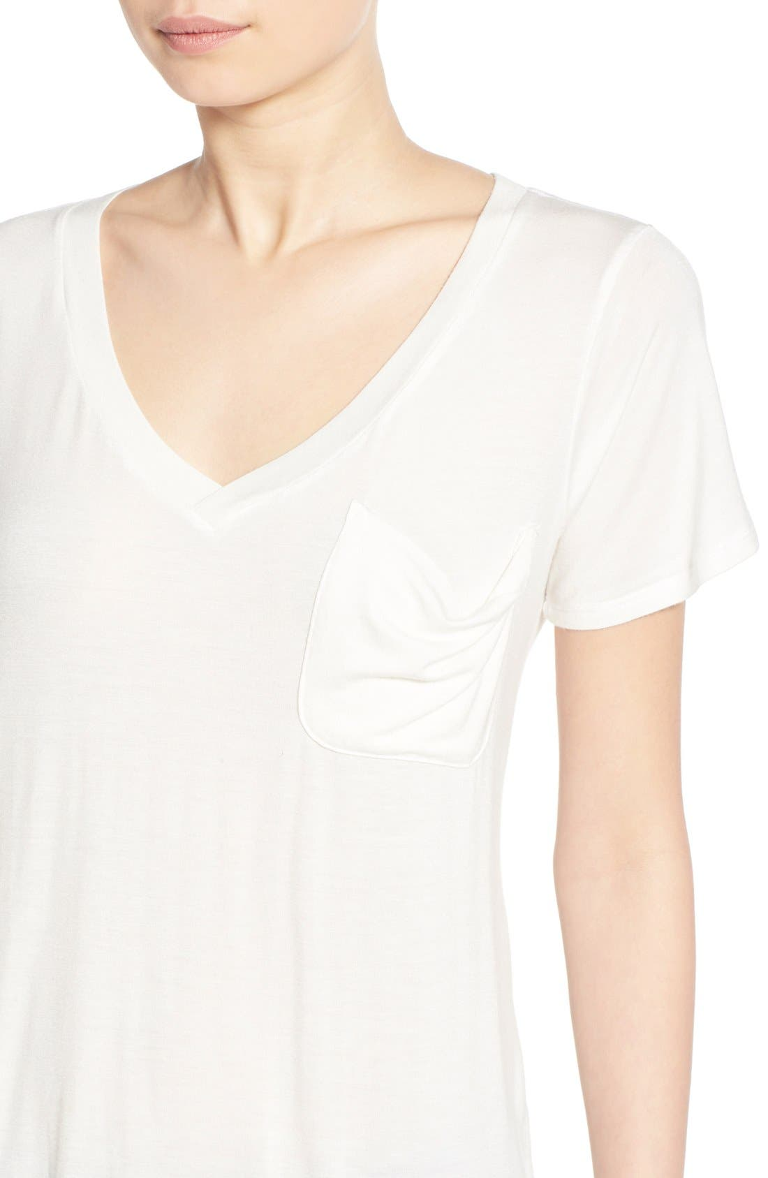 Alternate Image 4  - Socialite V-Neck Pocket Tee