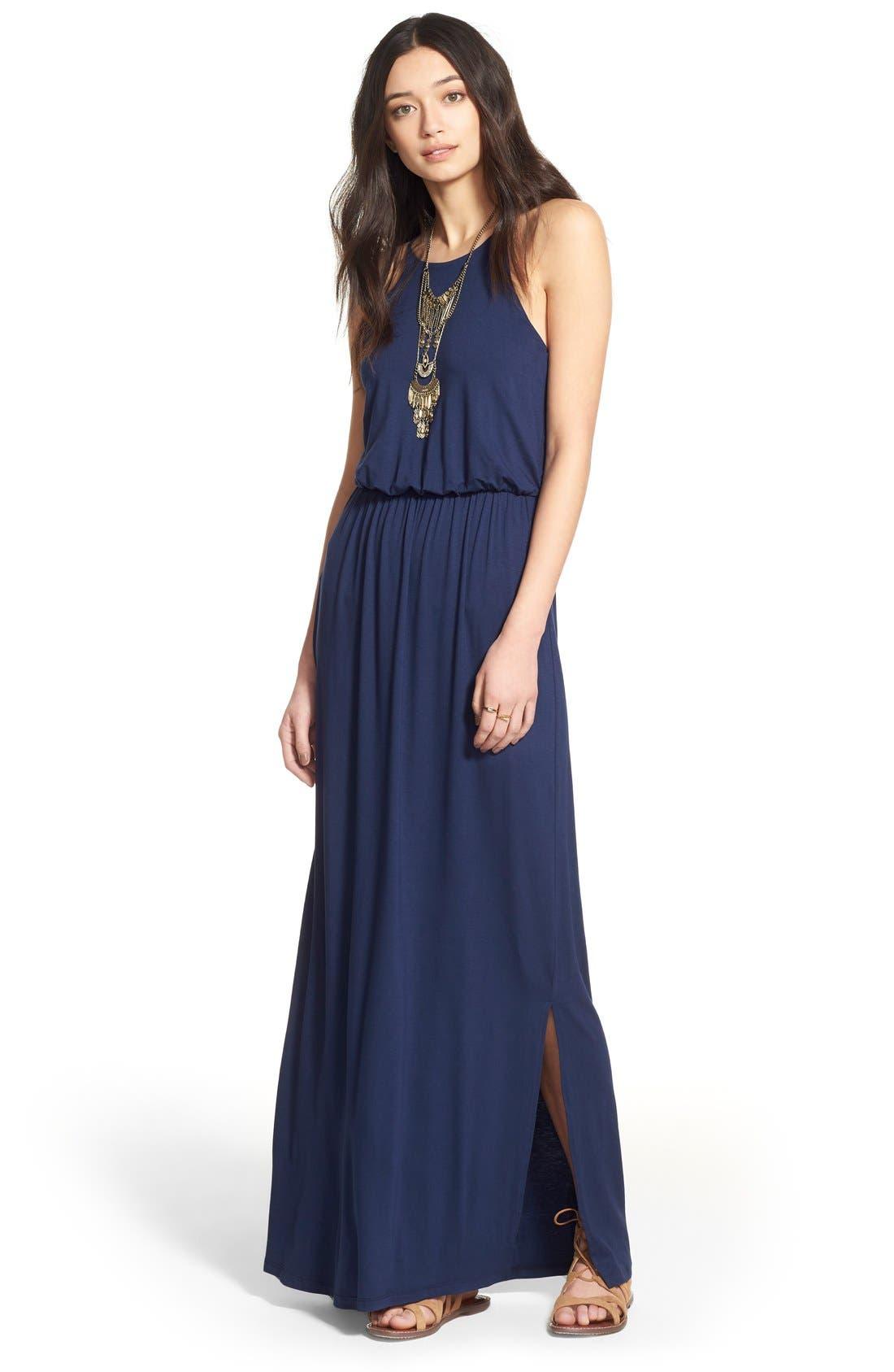 Alternate Image 2  - Lush High Neck Maxi Dress