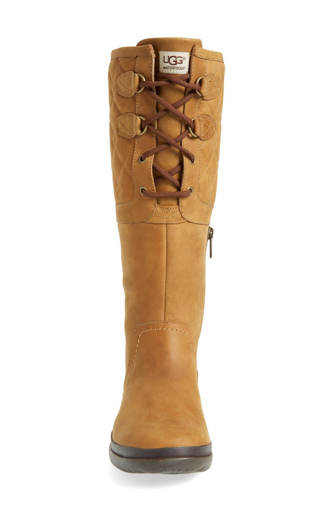 Alternate Image 3  - UGG® Elsa Quilted Waterproof Boot (Women)