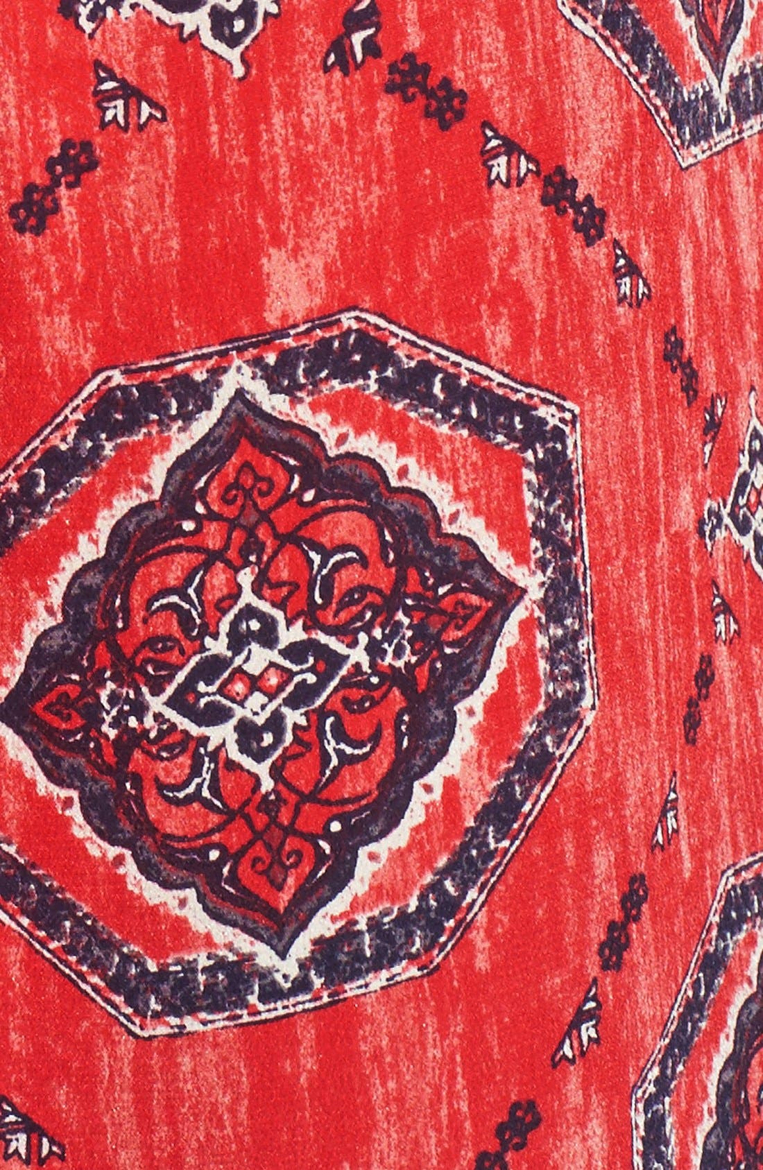 Alternate Image 5  - Lucky Brand Medallion Print Silk Tank