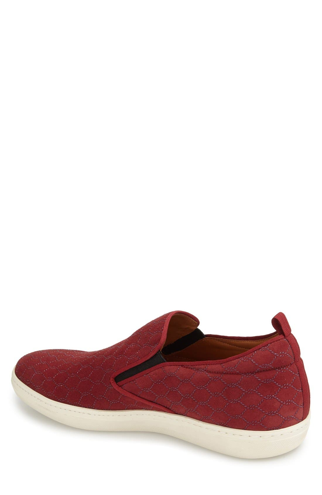 'Moneo' Slip-On,                             Alternate thumbnail 2, color,                             Burgundy Patterned Fabrc