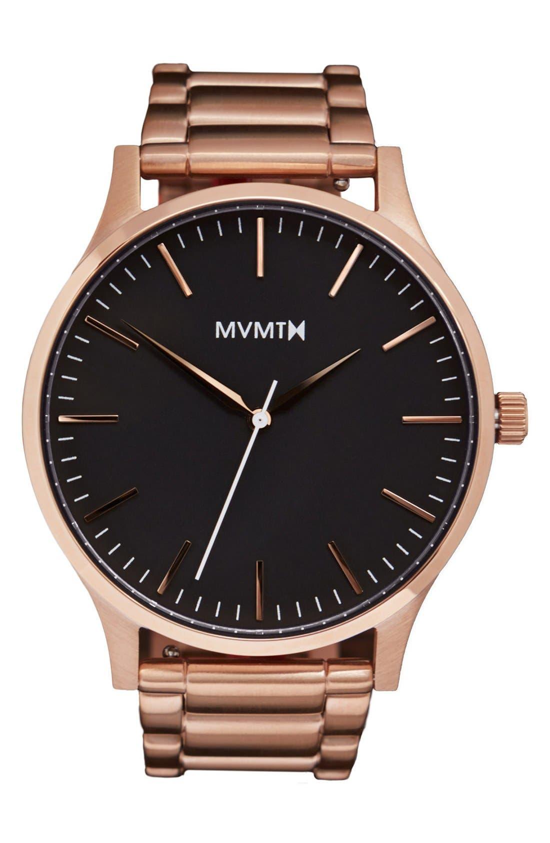 Bracelet Watch, 40mm,                             Main thumbnail 1, color,                             Rose Gold/ Black