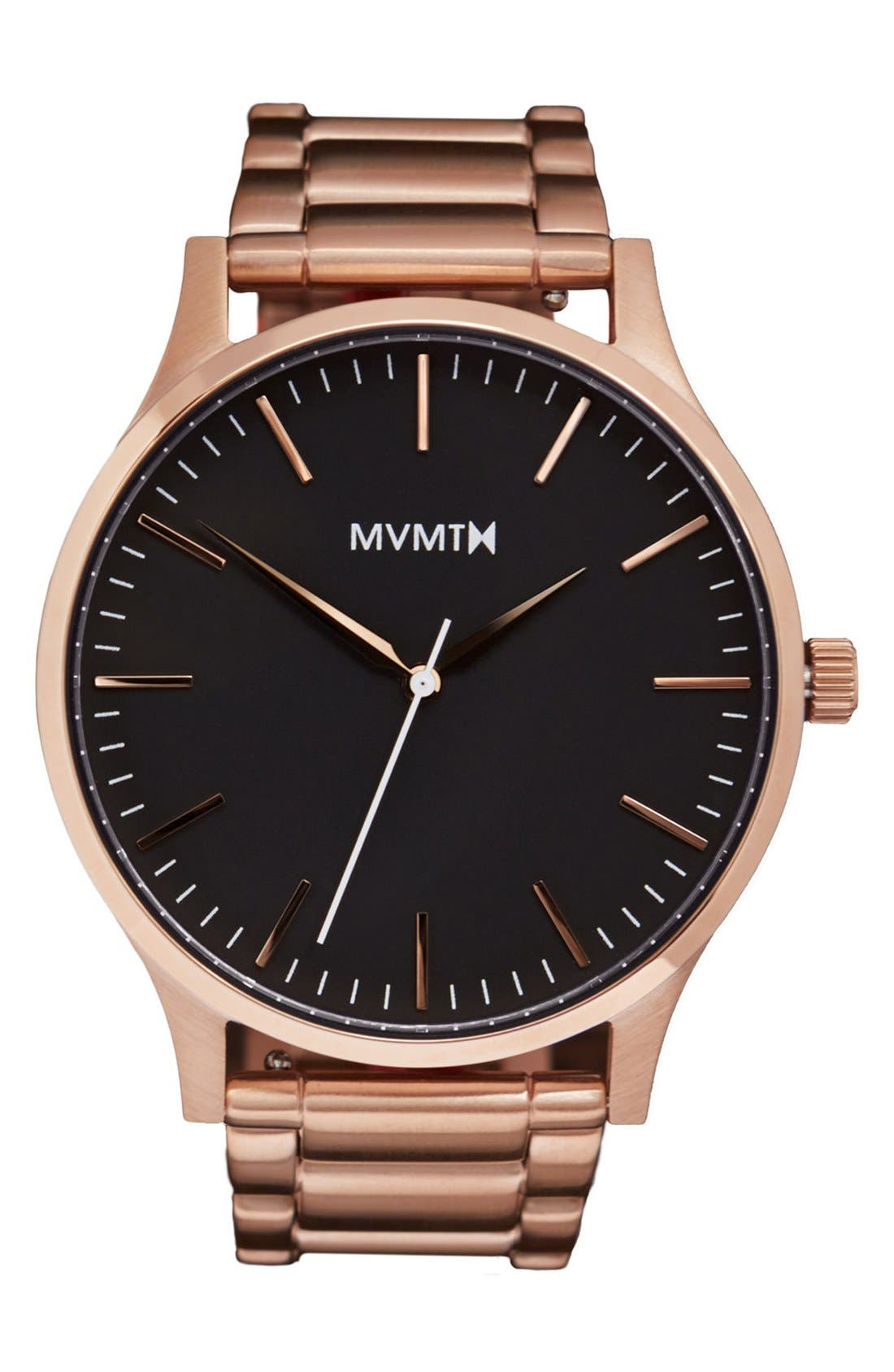 Bracelet Watch, 40mm,                         Main,                         color, Rose Gold/ Black