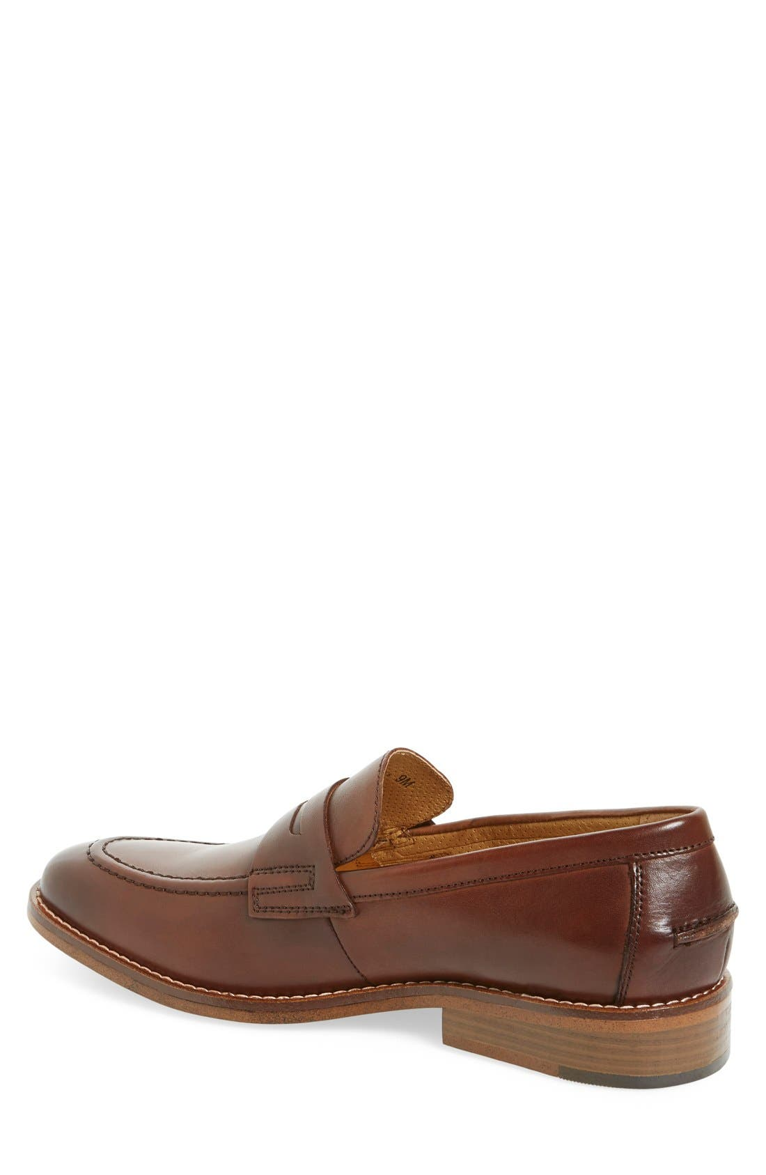 'Conner' Penny Loafer,                             Alternate thumbnail 2, color,                             British Tan Leather