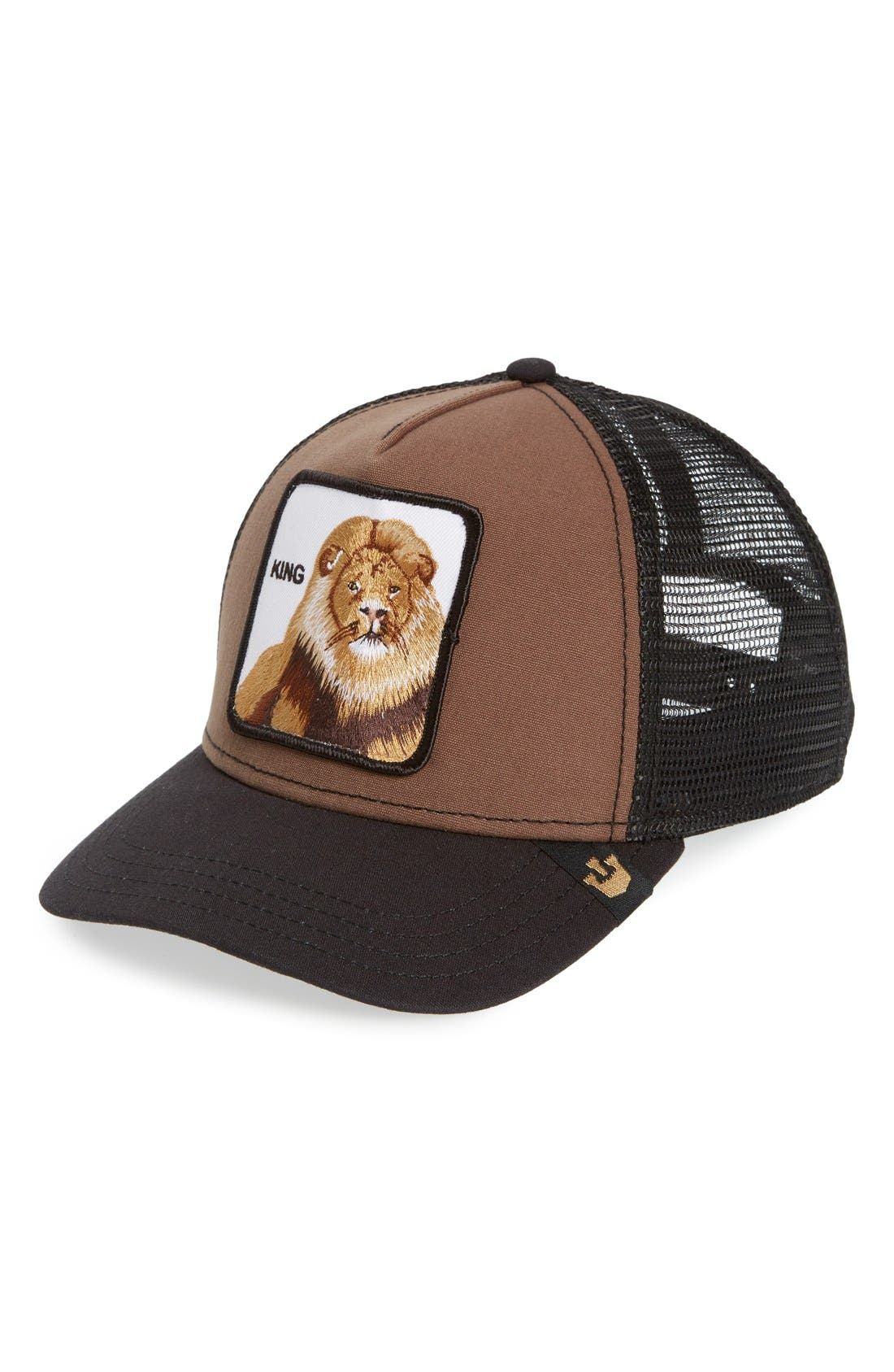 'Animal Farm - King' Trucker Hat,                             Main thumbnail 1, color,                             Brown