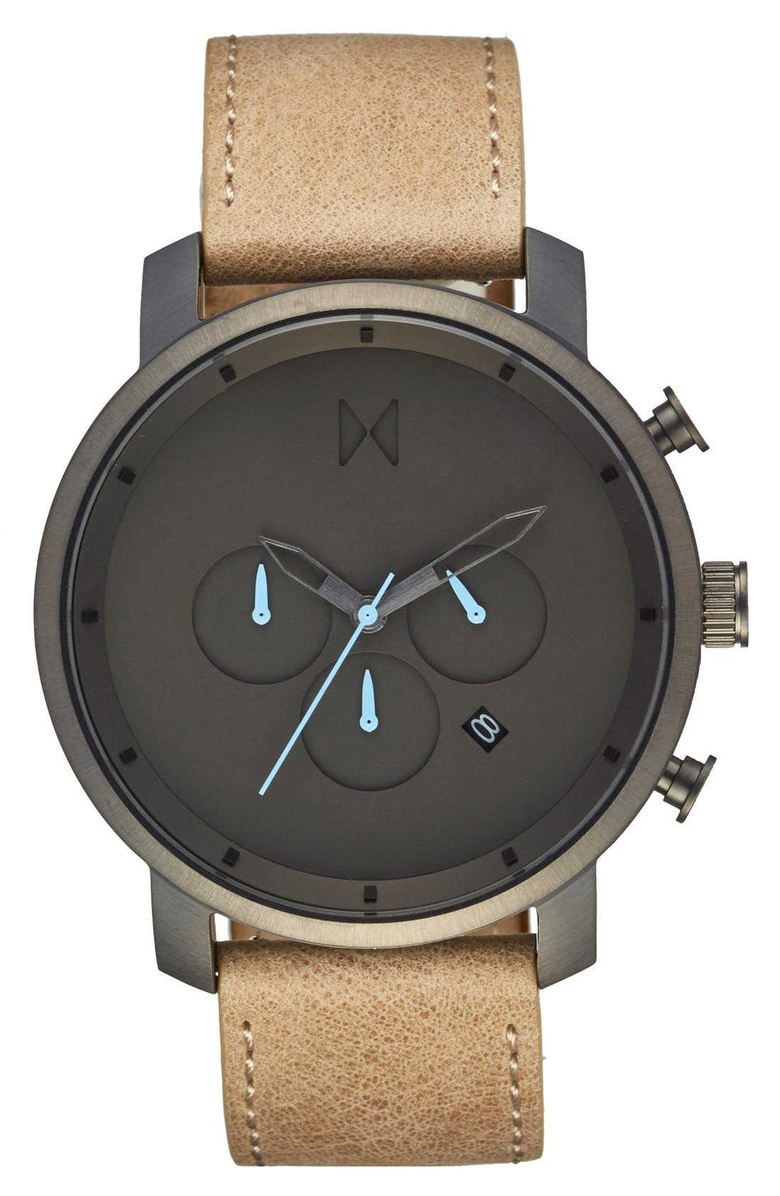 Main Image - MVMT Chronograph Leather Strap Watch, 45mm