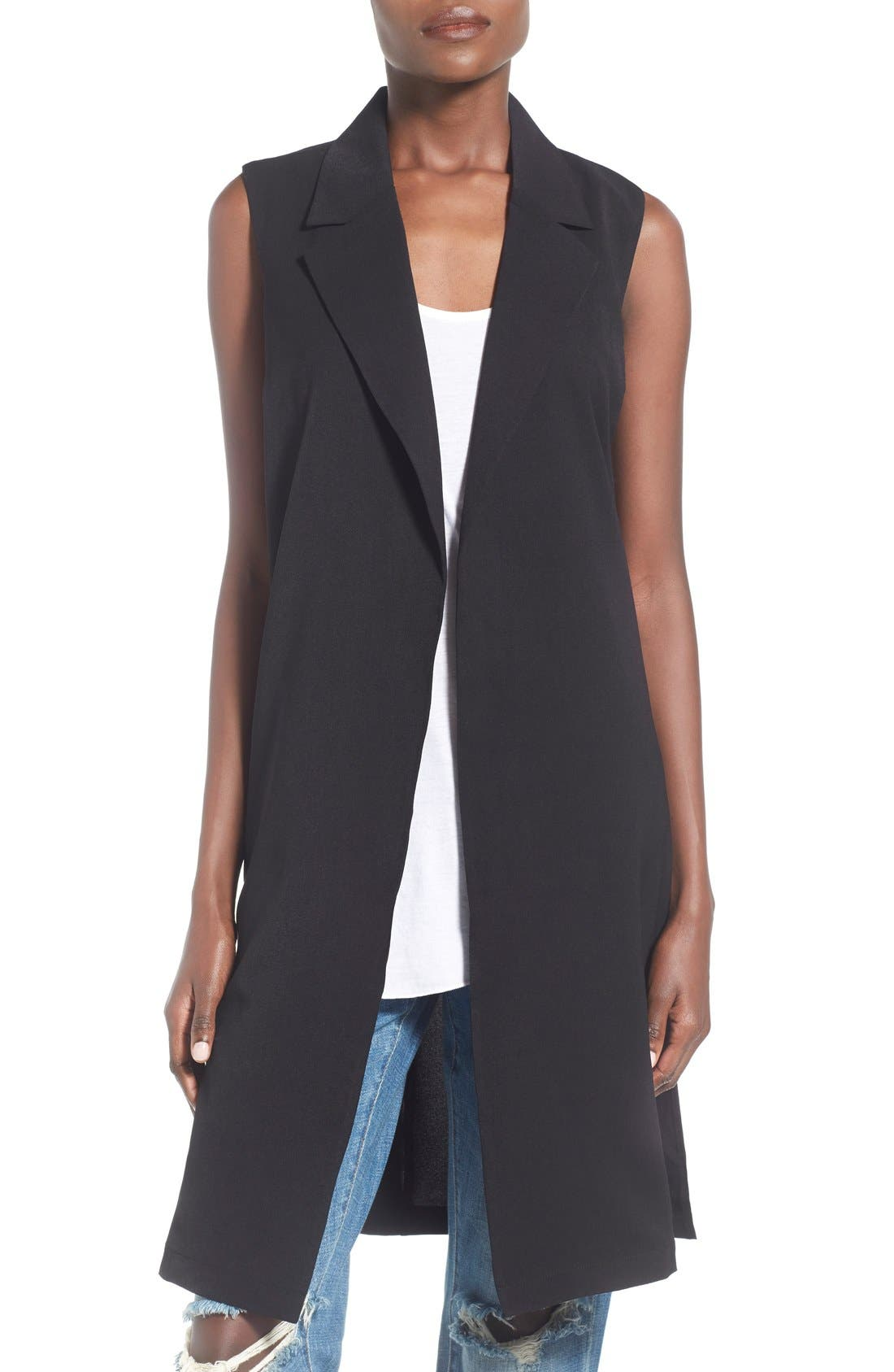 Main Image - Leith Sleeveless Open Front Jacket