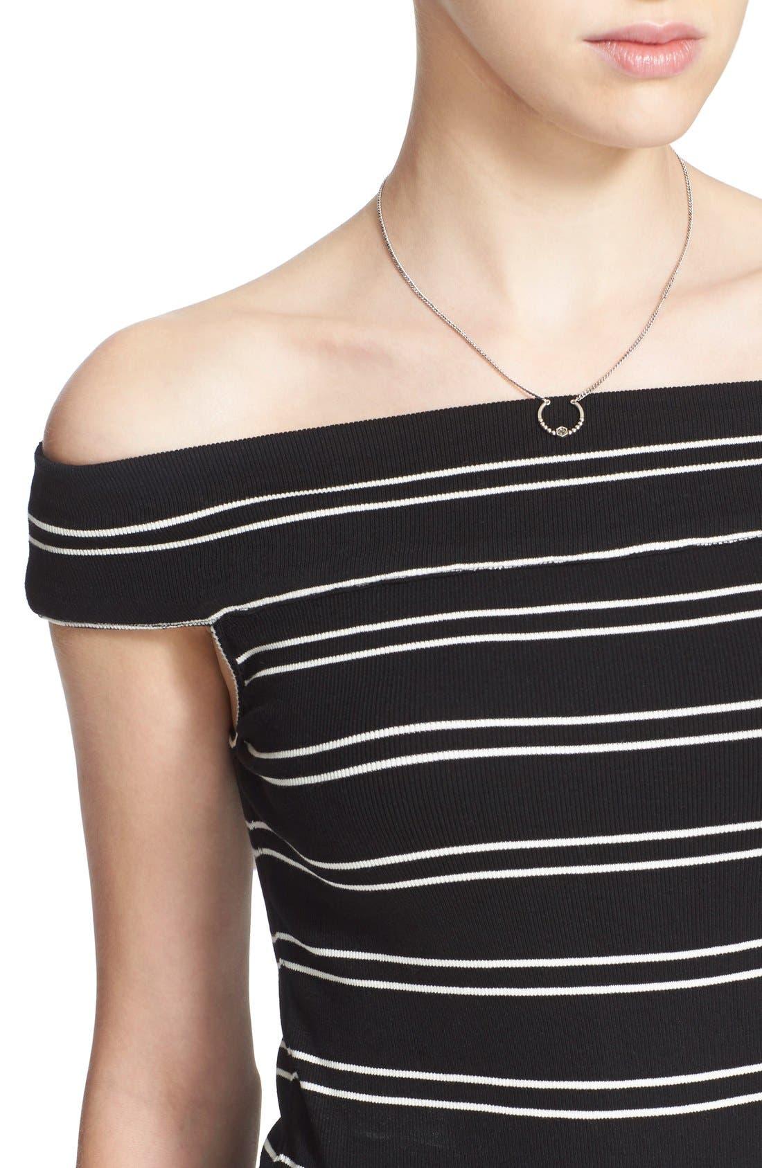 Alternate Image 4  - Free People 'Yacht Club' Stripe Off the Shoulder Tee