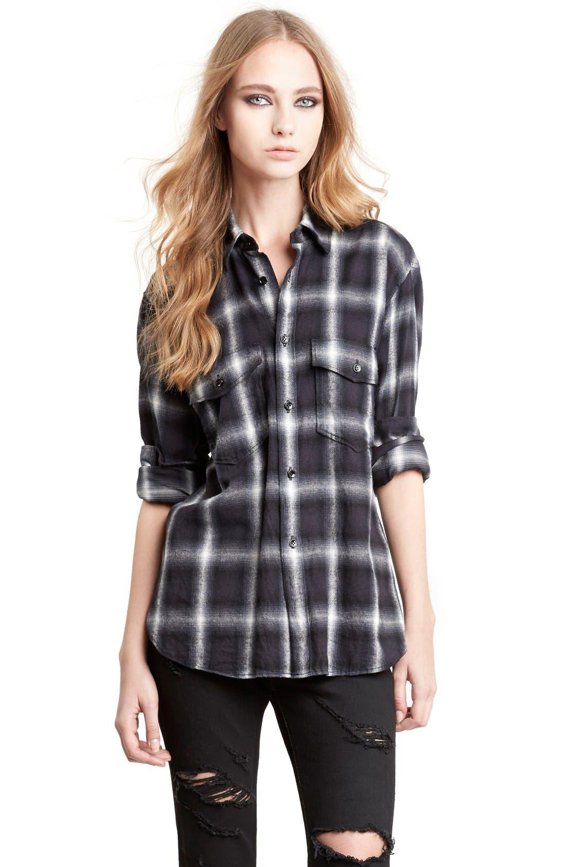 Alternate Image 4  - Saint Laurent Oversize Check Flannel Shirt