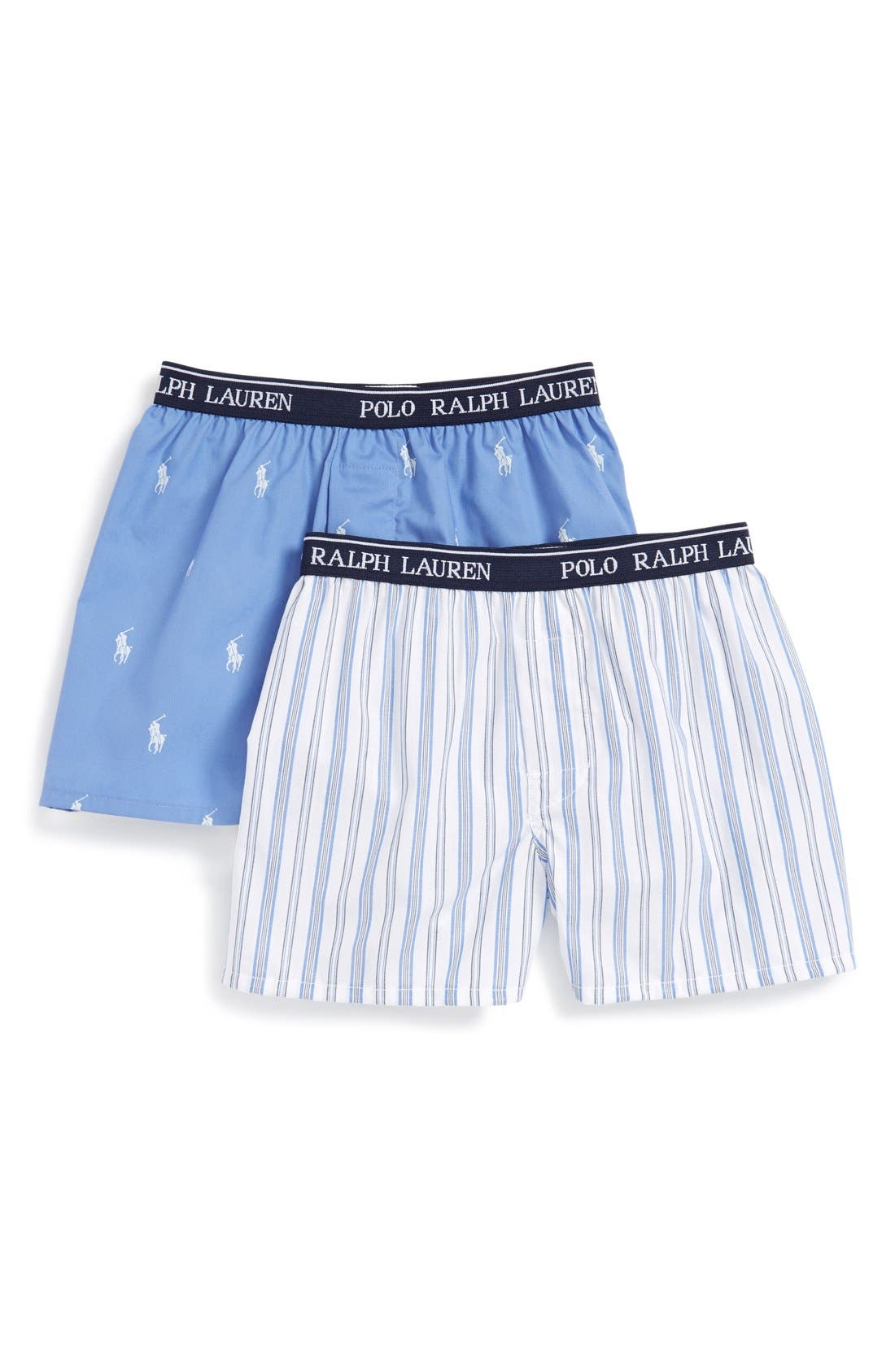 Woven Boxers,                         Main,                         color, Riviera Heather
