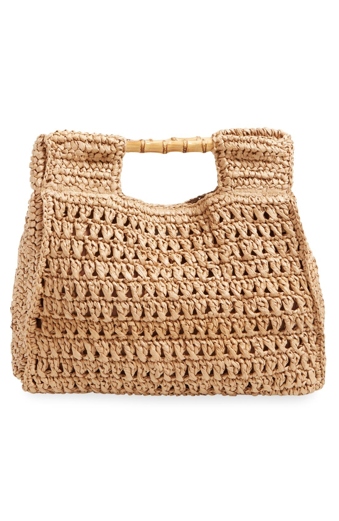 Woven Straw Tote,                             Alternate thumbnail 3, color,                             Natural