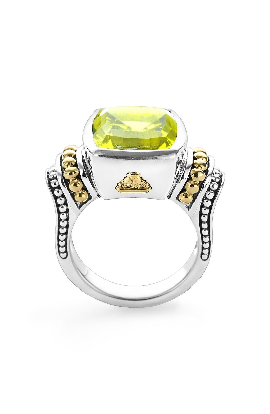 Alternate Image 2  - LAGOS 'Caviar Color' Medium Semiprecious Stone Ring