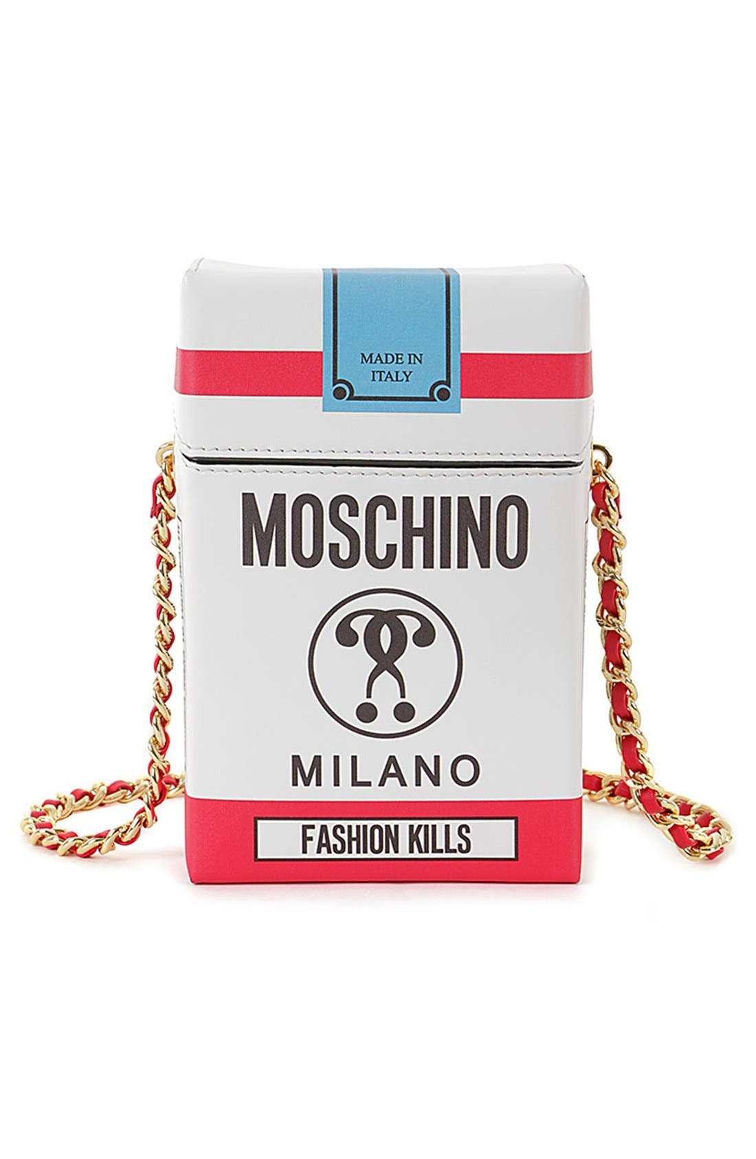 Alternate Image 1 Selected - Moschino 'Fashion Kills' Crossbody Bag