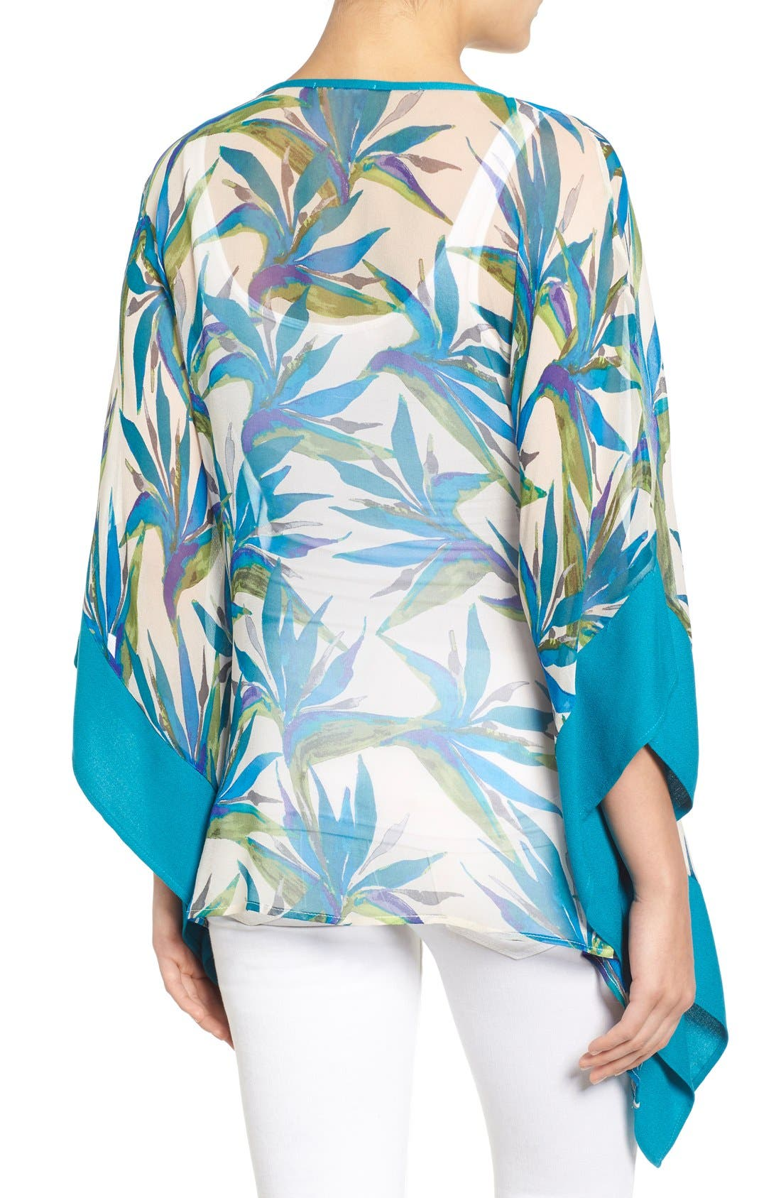 Alternate Image 2  - Ella Moss Print Silk Tunic Top